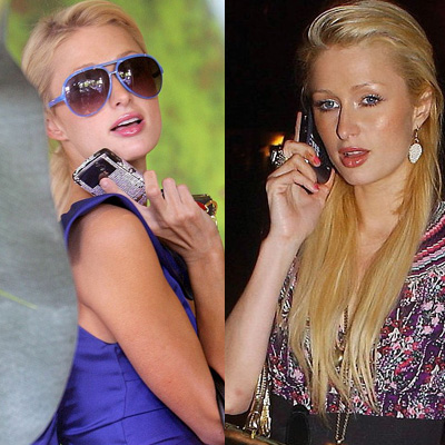 Paris Hilton's Cell Phone Choices Over the Years