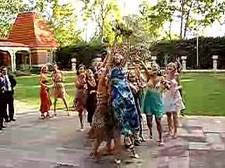 Woman Falls Catching Wedding Bouquet