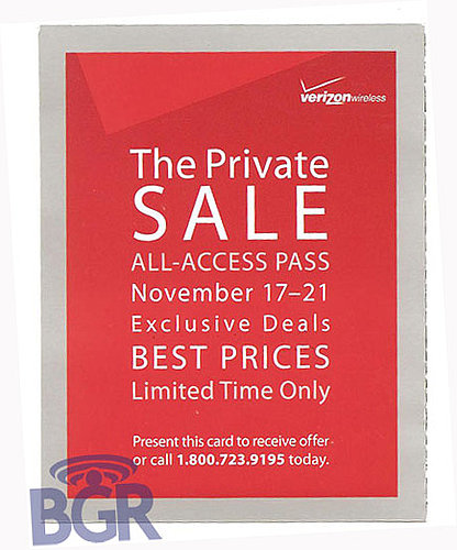 Daily Tech: Verizon Wireless Sends Out Invites For a Private Sale