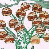 Deck out your house with this Tree of Hamburgers ($250) original artwork.