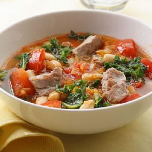 Pork, White Bean, and Kale Soup