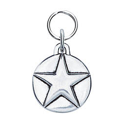 Circle Dog Tag with Star ($18)