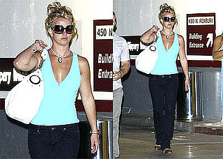 Photo of Britney Spears at Hollywood Recording Studio