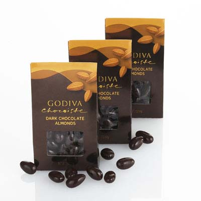 Godiva Chocoiste Dark Chocolate Covered Almonds