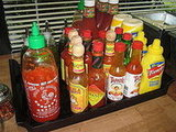 Never one to discriminate, in each dining area, every type of condiment imaginable is available.
