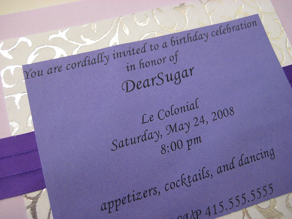 30th Birthday Invite: Step by Step