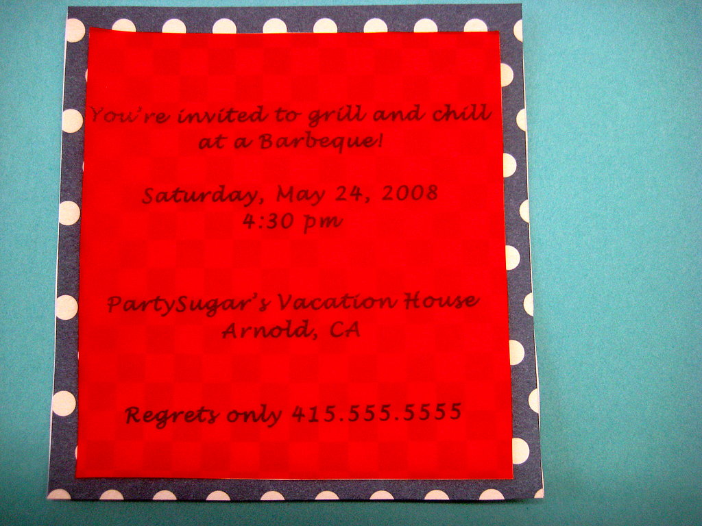 Memorial Day Barbeque Invite: Step by Step