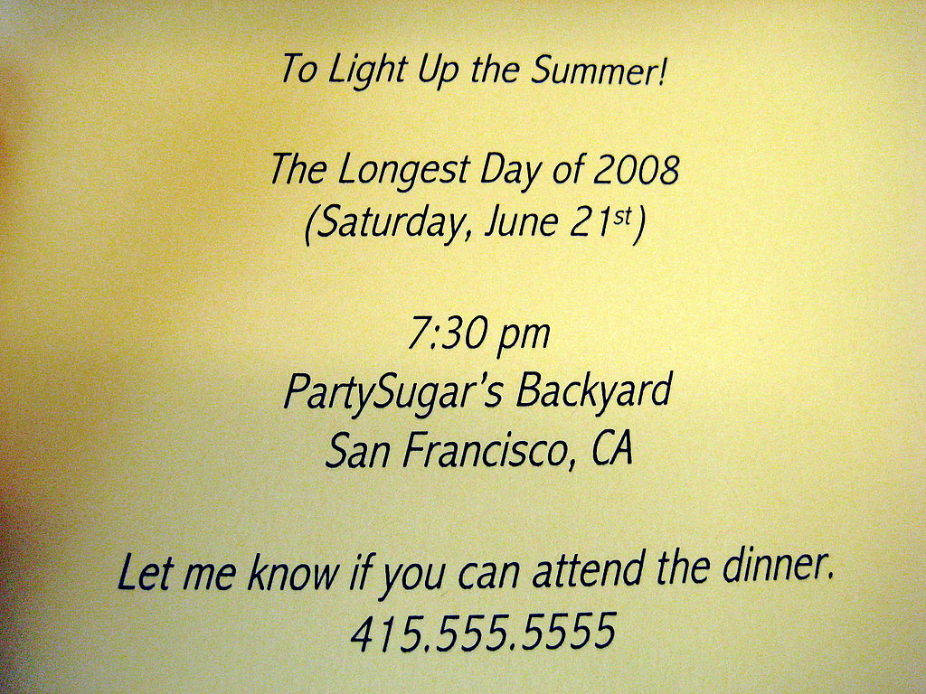 Summer Solstice Invite: Step by Step