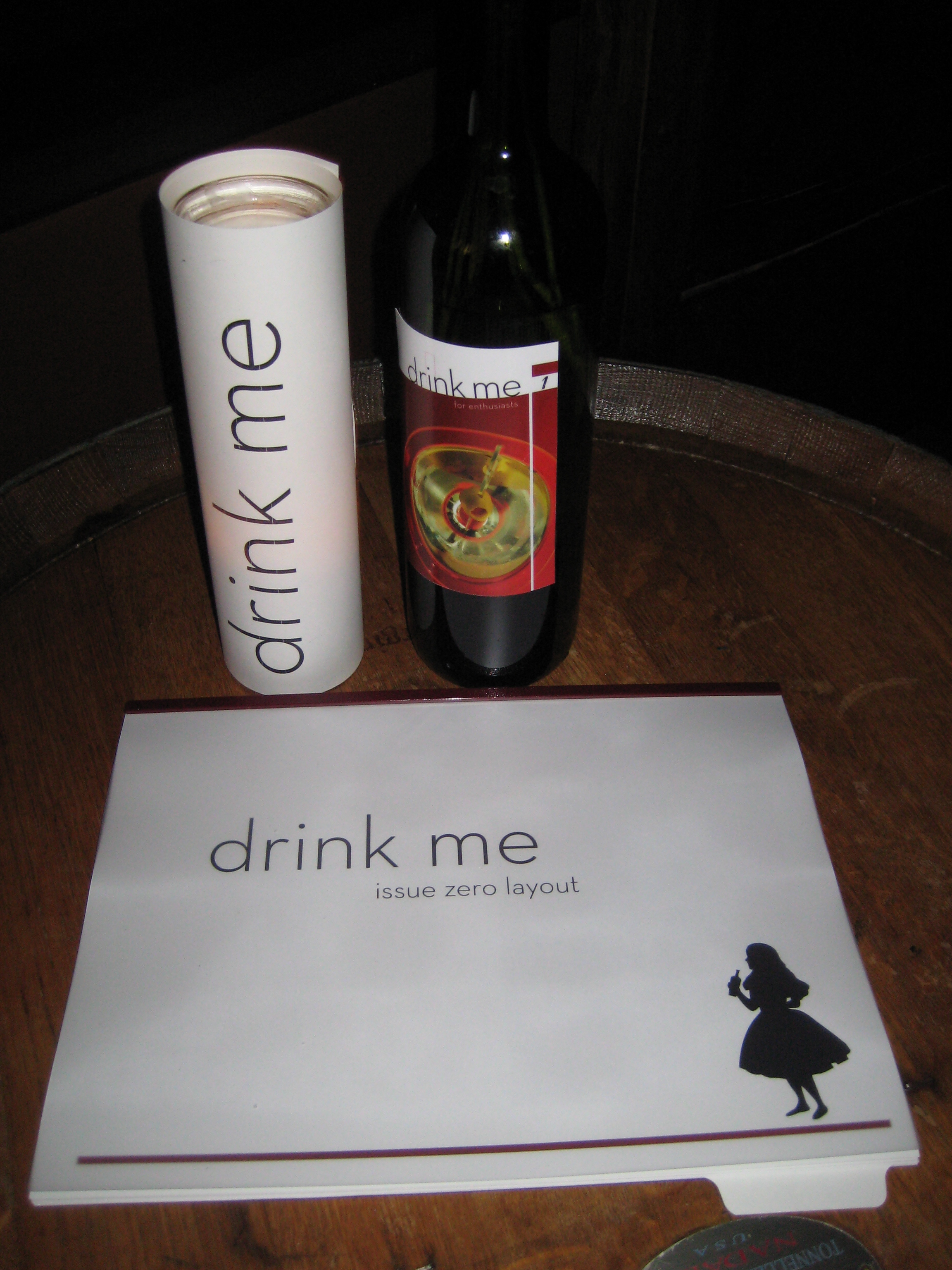 A Drink Me press kit.