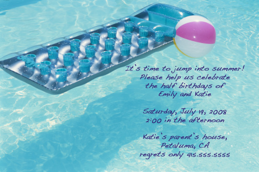 Come Party With Me: Pool Party — Invite | POPSUGAR Food