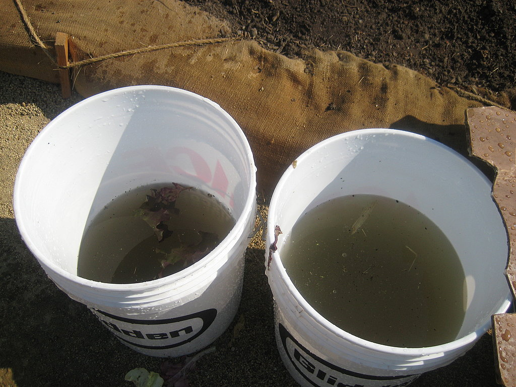 The water becomes cloudy quickly. Its important to frequently change the wash buckets.