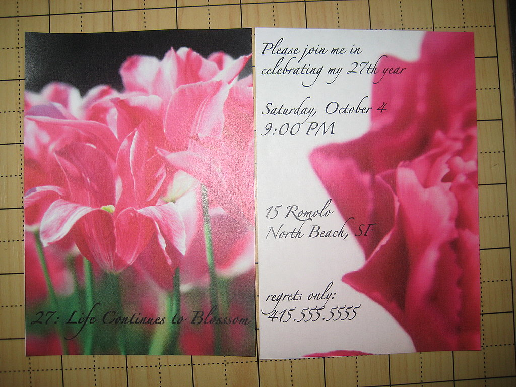 My Birthday Party Invitation: Step by Step