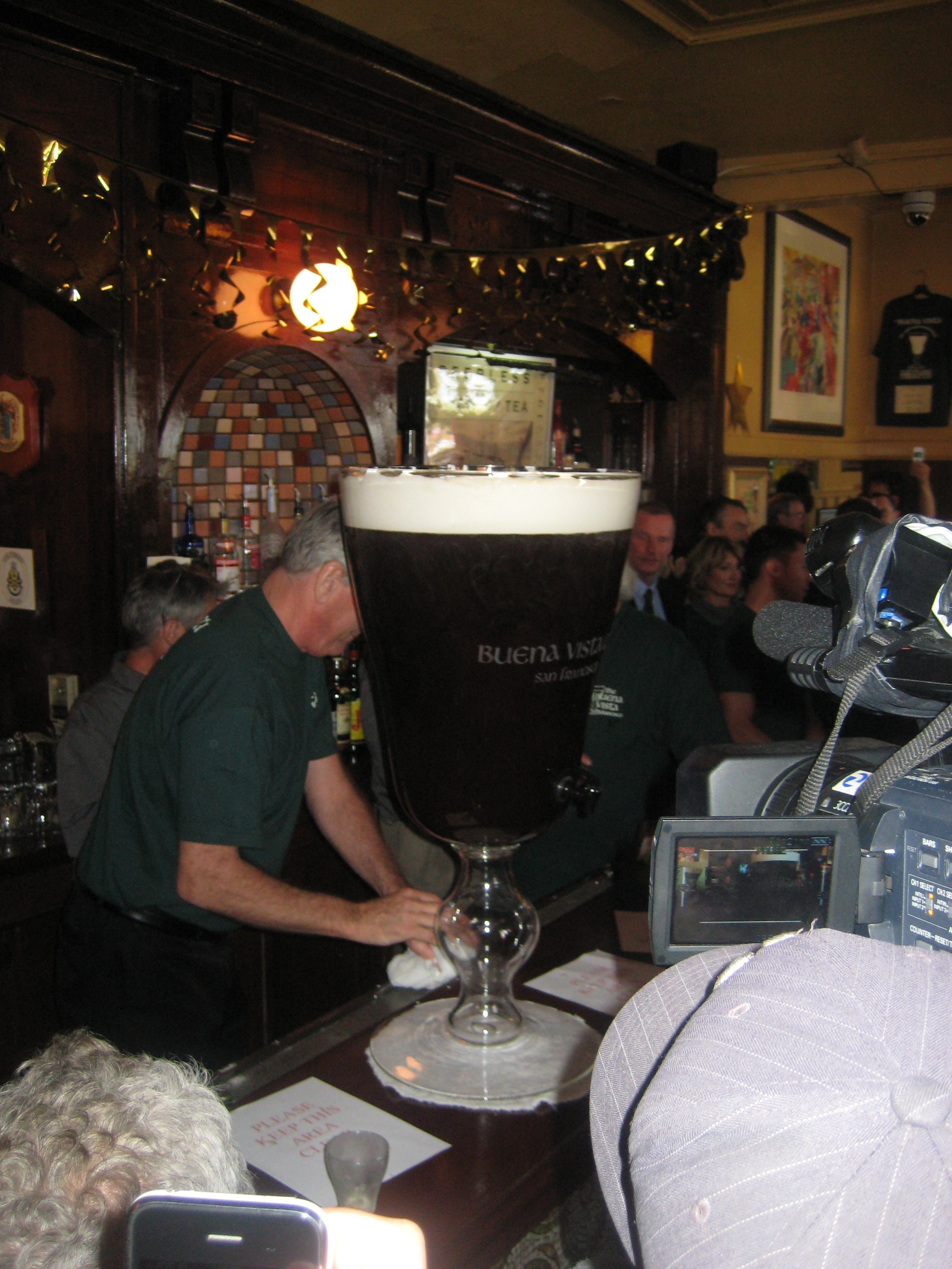 The world's largest Irish coffee.