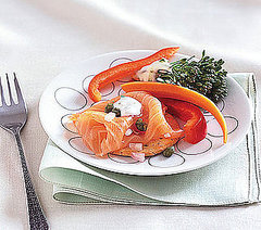Smoked Salmon Platter with Dill Sour Cream