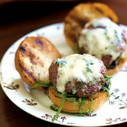 Mini Beef and Sage Sliders With Gorgonzola
