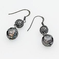 Simply Vera Vera Wang Jet-Tone Drop Earrings (on sale: $9.80)