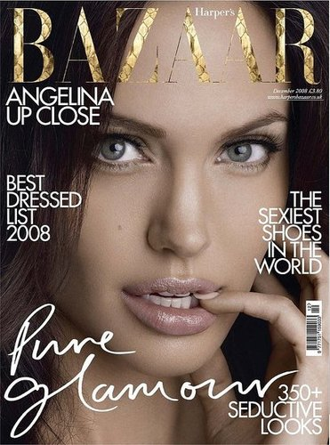 Angelina is Gorgeous on the Cover of Harper's Bazaar