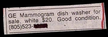 """GE Mammogram dish washer for sale."""