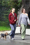 Natalie Portman Walks Her Dog