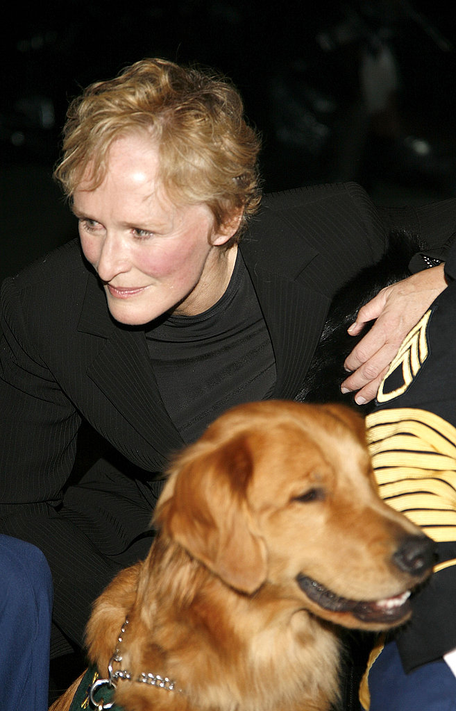 Glenn Close and Puppies Behind Bars