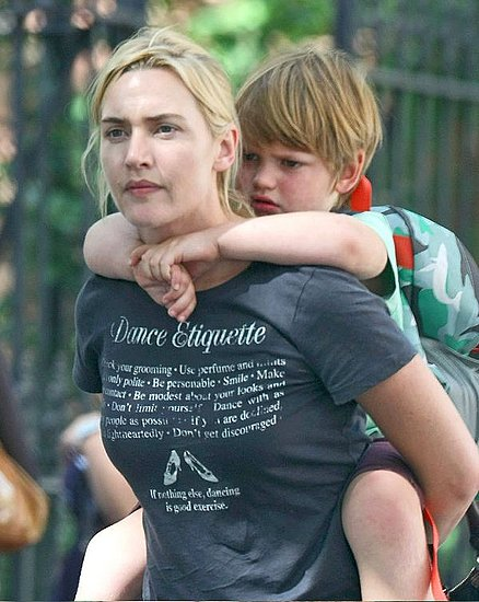 Mini Me: Kate Winslet and Joe Mendes