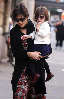 Katie Holmes and Suri Cruise Shade Their Eyes in Style