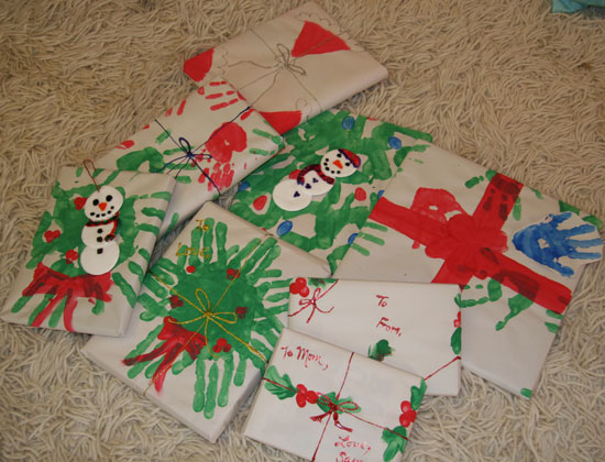Wrap It Up: Handprint Holiday Paper