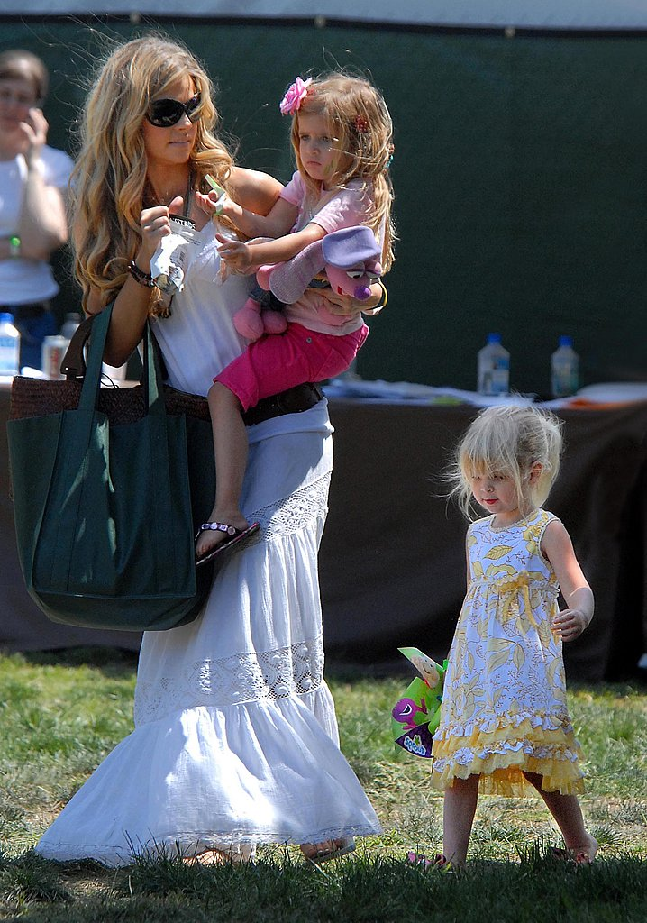 Denise Richards and Her Girls All Dolled Up
