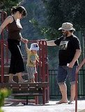 Jack Black and Family at the Park