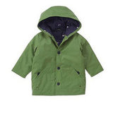 Green Hooded Rain Jacket $52