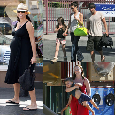 Celebrities and Their Babies Over the Weekend 2008-08-25 15:00:12
