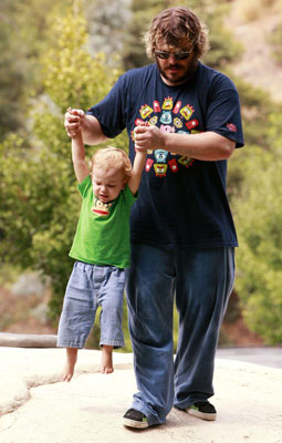Jack Black Helped Son Samuel Get Some Air