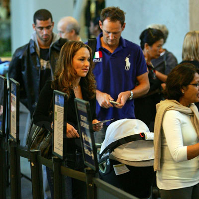 Baby Jade Goes Flying With Mama Giada