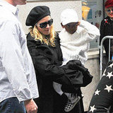 Madonna and David Keep Their Lids On