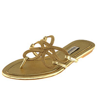 Gold swirl sandals, hit or miss??