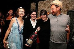 Sept 2008, with Joanna Newsom for Moet sponsored party