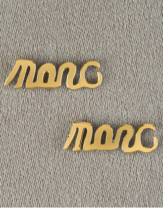 Script Stud Earrings $38 Neiman Marcus