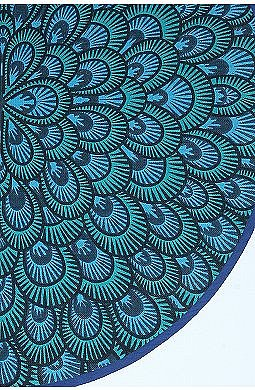 UrbanOutfitters.com &gt; 60&quot; Round Peacock Printed Rug