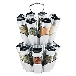 Trudeau 16-Bottle Spice Rack - Chrome Accents : Target