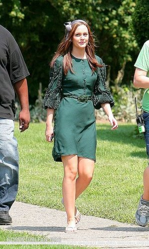 Hit or Miss: Leighton Meester's Green Dress