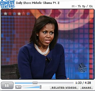 Briefing Book! Michelle Obama Stops By the Daily Show