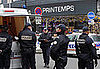 Front Page: Police Defuse Bomb in Paris Department Store