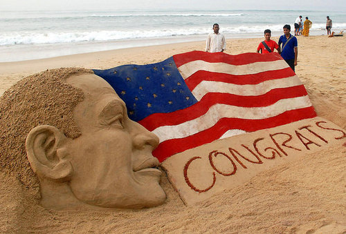 World Congratulates Obama and US