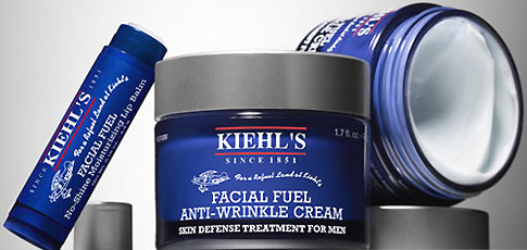 Kiehl's Facial Fuel Anti Wrinkle Cream and Kiehl's Facial Fuel No-Shine Moisturizing Lip Balm