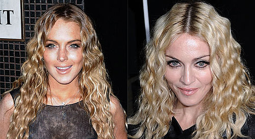 Photos of Madonna and Lindsay Lohan's New latest Hairstyle. Tight, Undulating Curls. Beauty Glossary Definition
