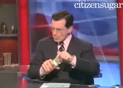Stephen Colbert Pledges Not to Drink a Drop of Water