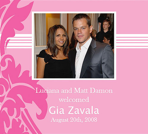 Matt and Luciana Damon Welcome Another Daughter