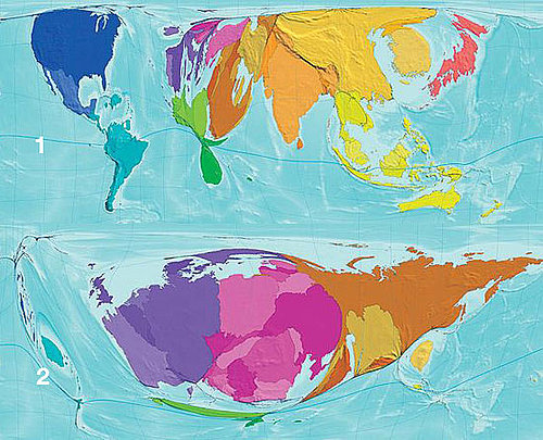 The Atlas of the Real World Maps Out Demographic Importance