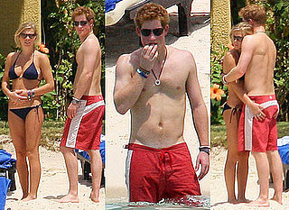 Photos of Shirtless Prince Harry with Chelsy Davy in Bikini on Holiday in Mauritius