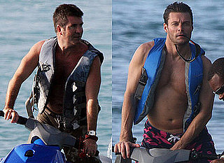 Photos of Shirtless Simon Cowell and Shirtless Ryan Seacrest Jet Skiing in Caribbean